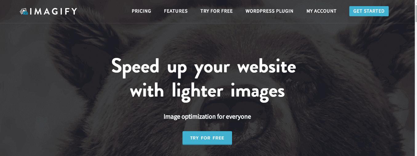 Сервис для сжатия изображений Imagify