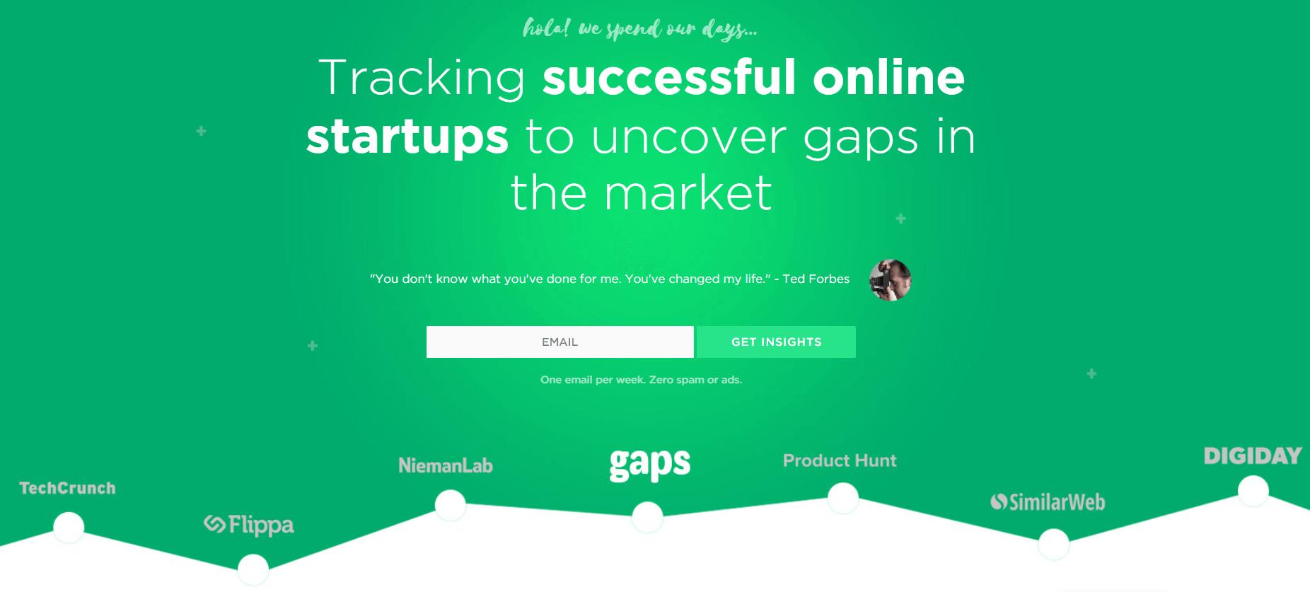 Онлайн-инструмент Gaps