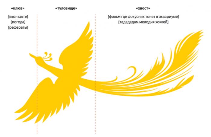 График частотного распределения запросов в Яндексе