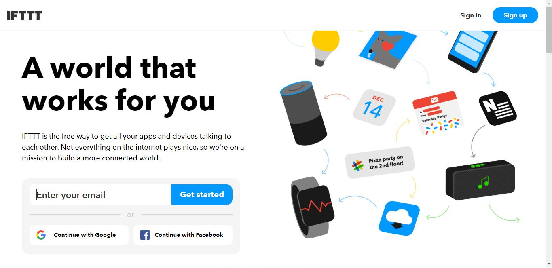 Сервис ifttt.com