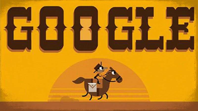 """Дудл """"155 лет компании Pony Express (2015)"""""""