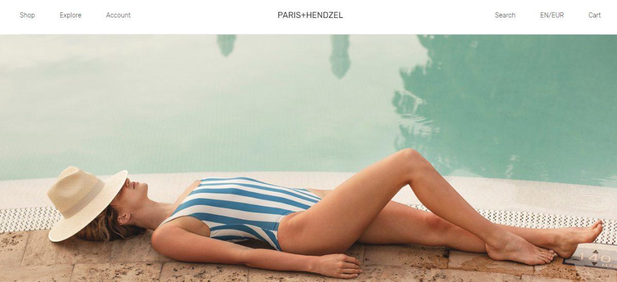 Посадочная страница сайта для бренда PARIS+HENDZEL